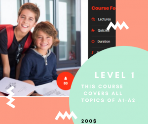 LEVEL 1 ENGLISH COURSE KIDS 12-15 YEARS OLD PICTURE